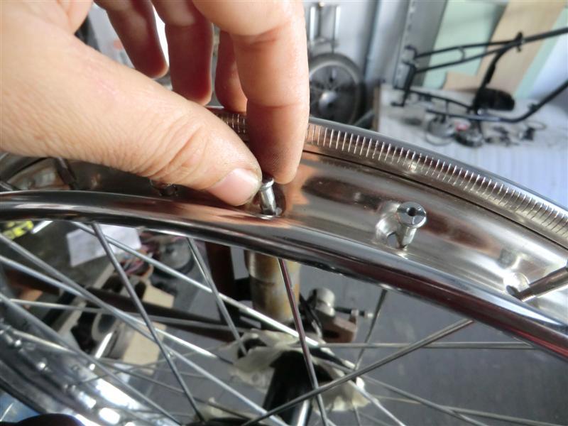 cambiar un radio de mountain bike