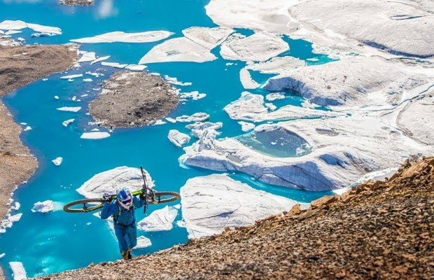 Mountain bike en el círculo polar ártico