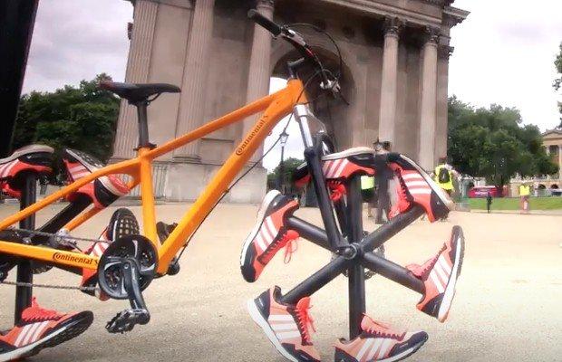 ¿Una mountain bike con ruedas hechas por zapatillas? Así es lo nuevo de Adidas y Continental