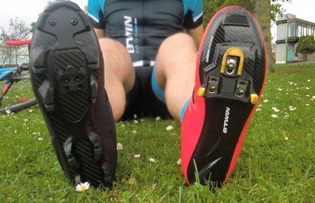 Utilizar pedales y calzado de MTB en bici de carretera y viceversa