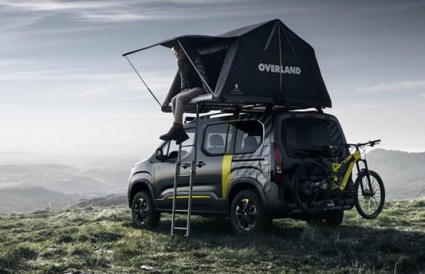 El nuevo Peugeot Rifter 4x4 Concept llega con MTB eléctrica y tienda de campaña