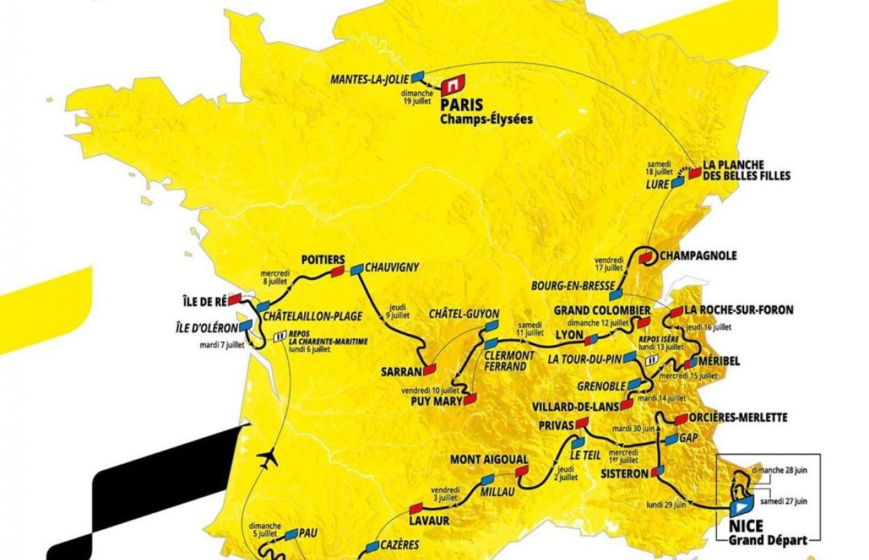 Desvelado el recorrido del Tour de Francia 2020