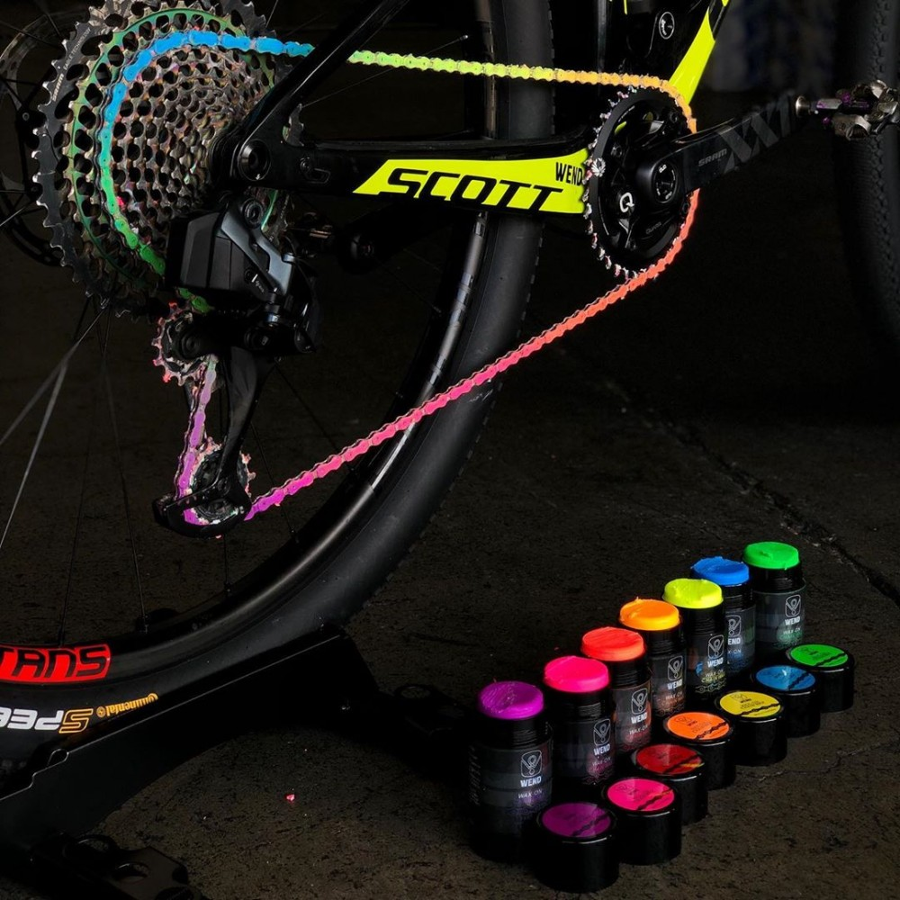 wend wax lubricante colores bici