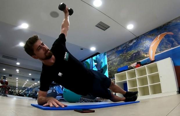 No Pain, No Gain, así entrena el core Peter Sagan