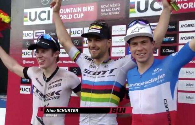 Nino Schurter y Anikka Langvad ganan la Copa del Mundo de Nove Mesto UCI XCO 2018