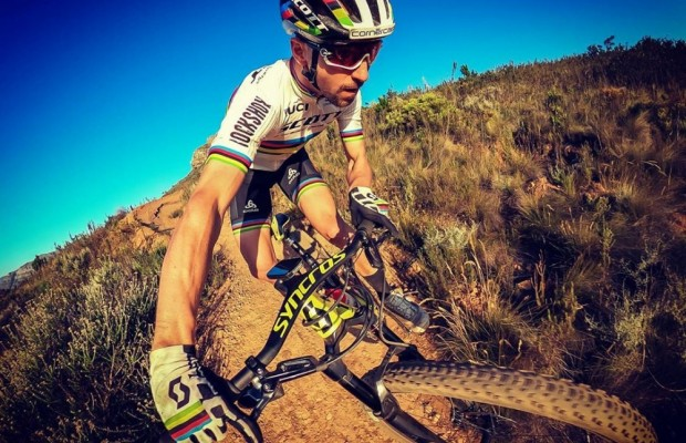 Nino Schurter tests a new fork: the RockShox SID SL