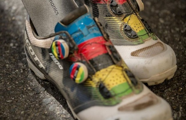Nino Schurter's customised cycling shoes
