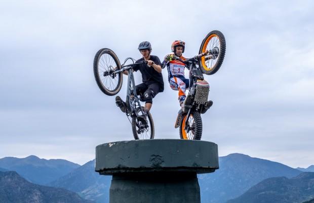 Mountain Bike v.s Moto de Trial ¿quién ganará?