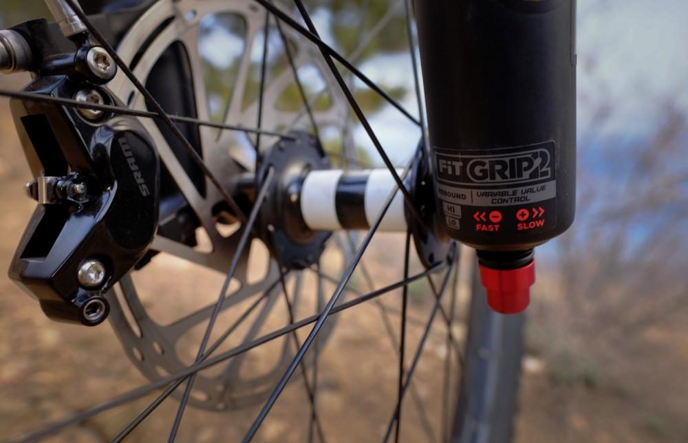 Rebote horquilla mountain bike