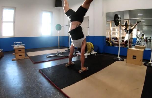 Peter Sagan, una bestia en el gimnasio