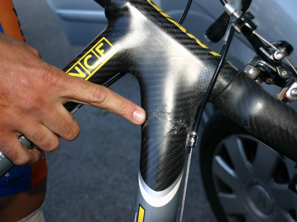 Romper un cuadro de bici