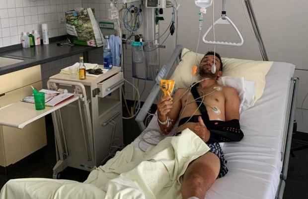 Manuel Fumic is seriously injured after a heavy fall while training