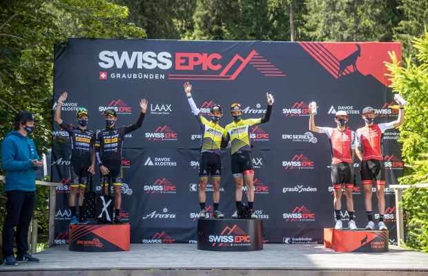 Nino Schurter and Lars Forster win the first stage of the Swiss Epic 2020