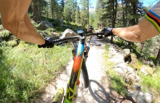 Nino Schurter tests the Scott Spark in the Bike Park