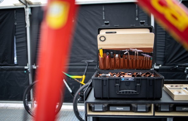 This is the toolbox of Andi Pscheidl, chief mechanic of Cannondale Factory Racing