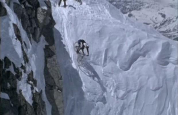 Así eran los descensos extremos por nieve en los años 90