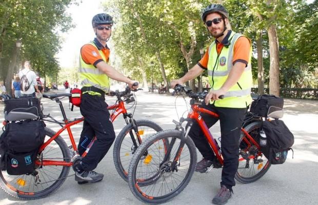 Unidad Lince, un equipo especial de emergencias que va en bicicleta