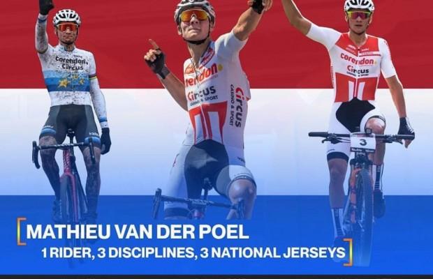 Mathieu Van der Poel campeón de Holanda de mountain bike, carretera y ciclocross  ¡Impresionante!