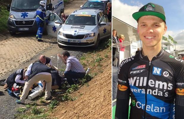 Muere el ciclista Michael Goolaerts tras sufrir un paro cardíaco en la Paris Roubaix