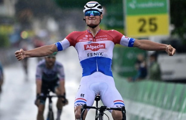 Van der Poel is back on the road racing with a victory at the Tour de Suisse