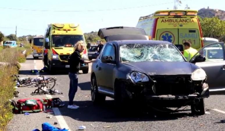 Ciclista atropellado en Mallorca