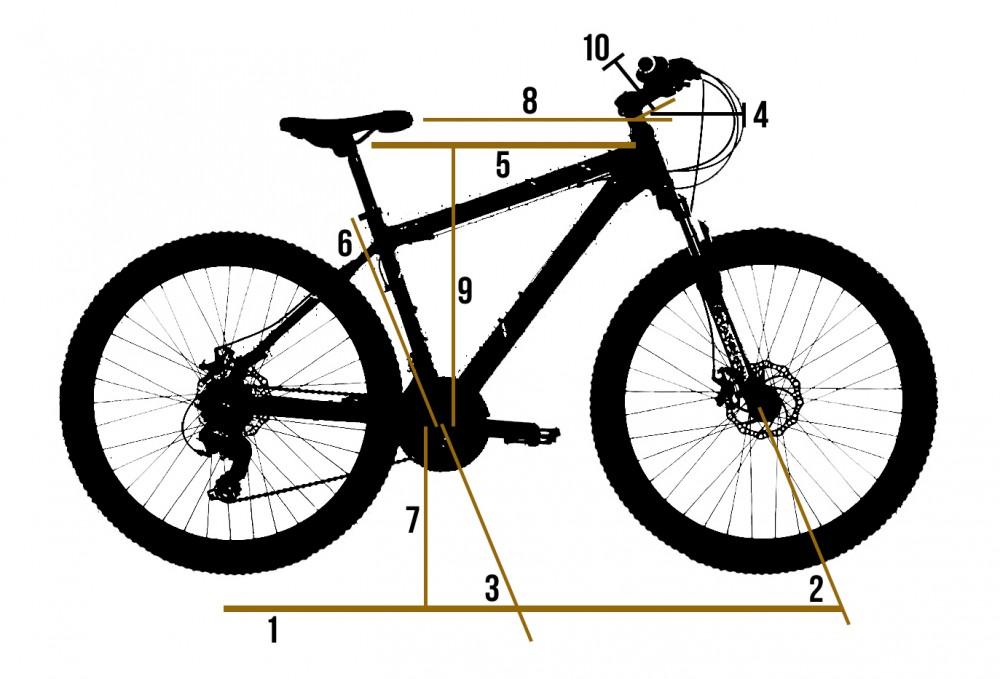 geometria de una bicicleta