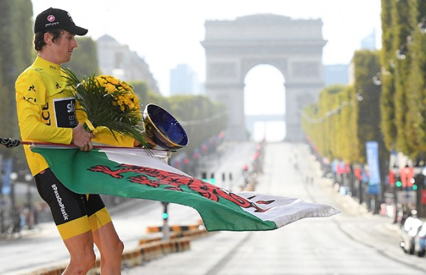 Roban el trofeo de campeón del Tour de Francia de Geraint Thomas