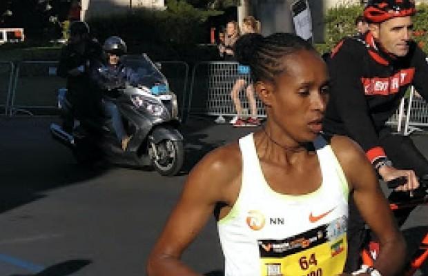 Miguel Induráin participó en el maratón de Valencia