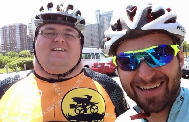 Ernest Gagnon, the most famous overweight cyclist in the net, is an example of love for cycling