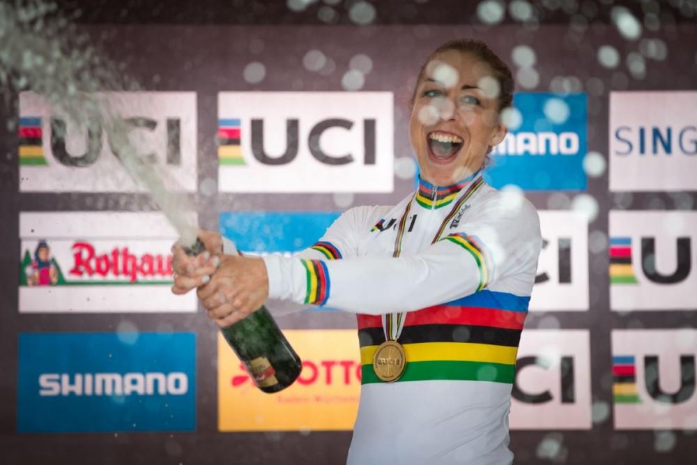 Annika Langvad, actual Campeona del Mundo XCM