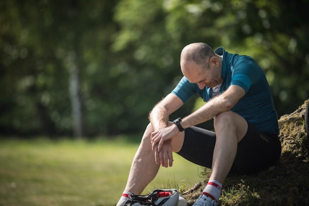 Descanso fatiga ciclista