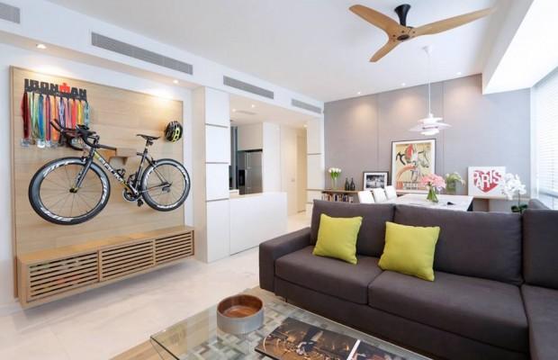 Maneras originales de guardar la bici en casa