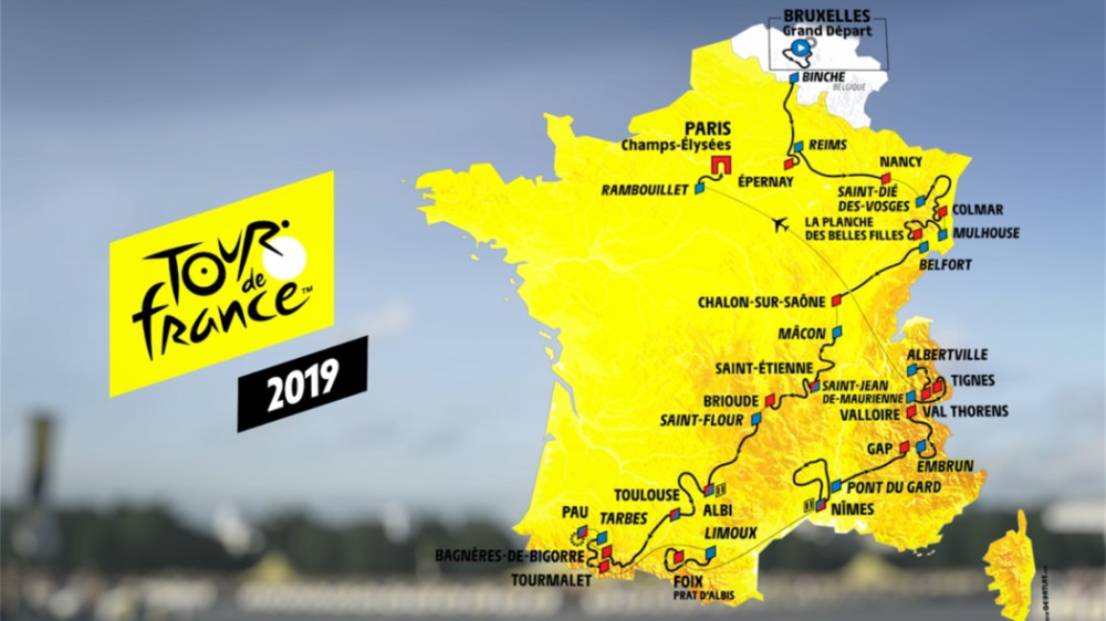 Mapa Tour 2019
