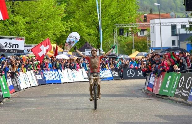 Mathias Flückiger won an epic Albstadt World Cup 2019 in which Van der Poel was second