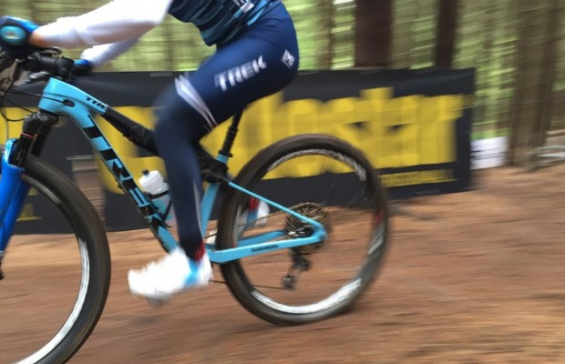 Emily Batty is testing a mysterious Trek prototype in Nove Mesto