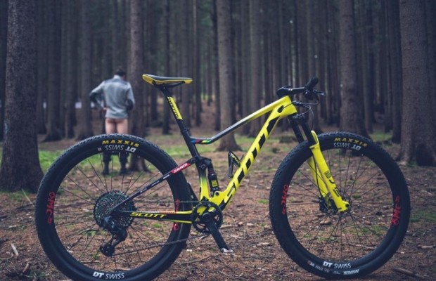 The new Schurter's Scott Spark bike for the Nove Mesto World Cup in detail, take a close look to the picture