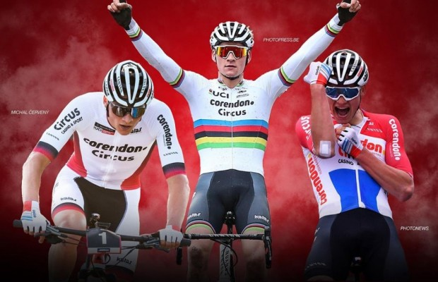 Van der Poel, the first cyclist in history to win these 3 titles