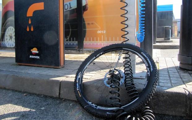 Cómo inflar una rueda de bicicleta