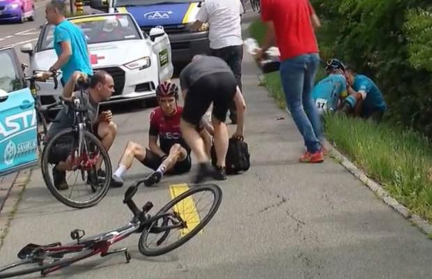 El accidente de Geraint Thomas hace saltar la alarma en el Team Ineos ¿tendrán líder para el Tour?