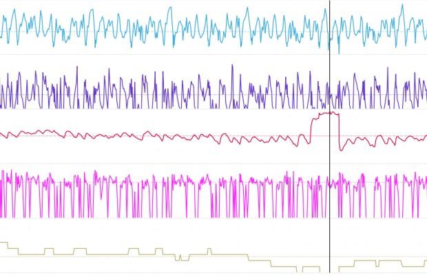 Ondrej Cink paró cuando iba primero al ver picos de 230 pulsaciones
