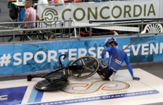 Chilling accident on the track, Lorenzo Gobbo was pierced by a giant splinter