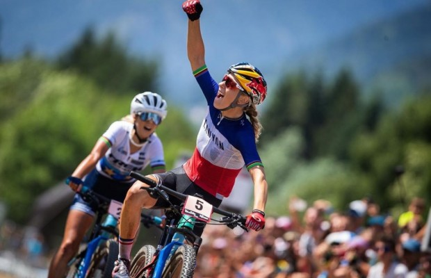 Pauline Ferrand Prevot wins and Rissveds returns to the podium at the Val di Sole World Cup 2019