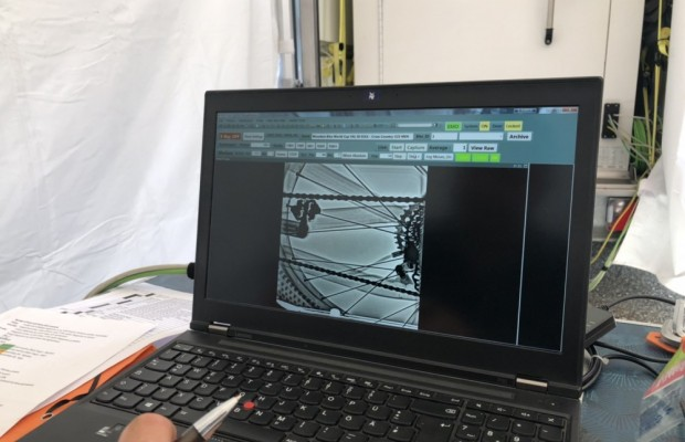 This is how the UCI performs a mechanical anti-doping control in the MTB World Cup