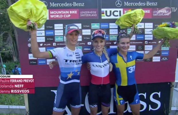 Pauline Ferran Prevot wins the Lenzerheide Short Track
