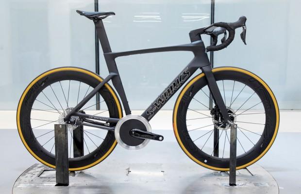 Specialized se interesa por la transmisión sin cadena y crea una bici especial para probarla en el túnel de viento