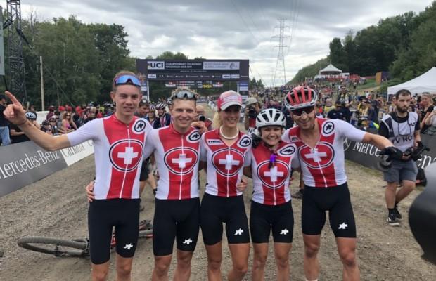 Switzerland wins the MTB XC Team Relay World Champion 2019