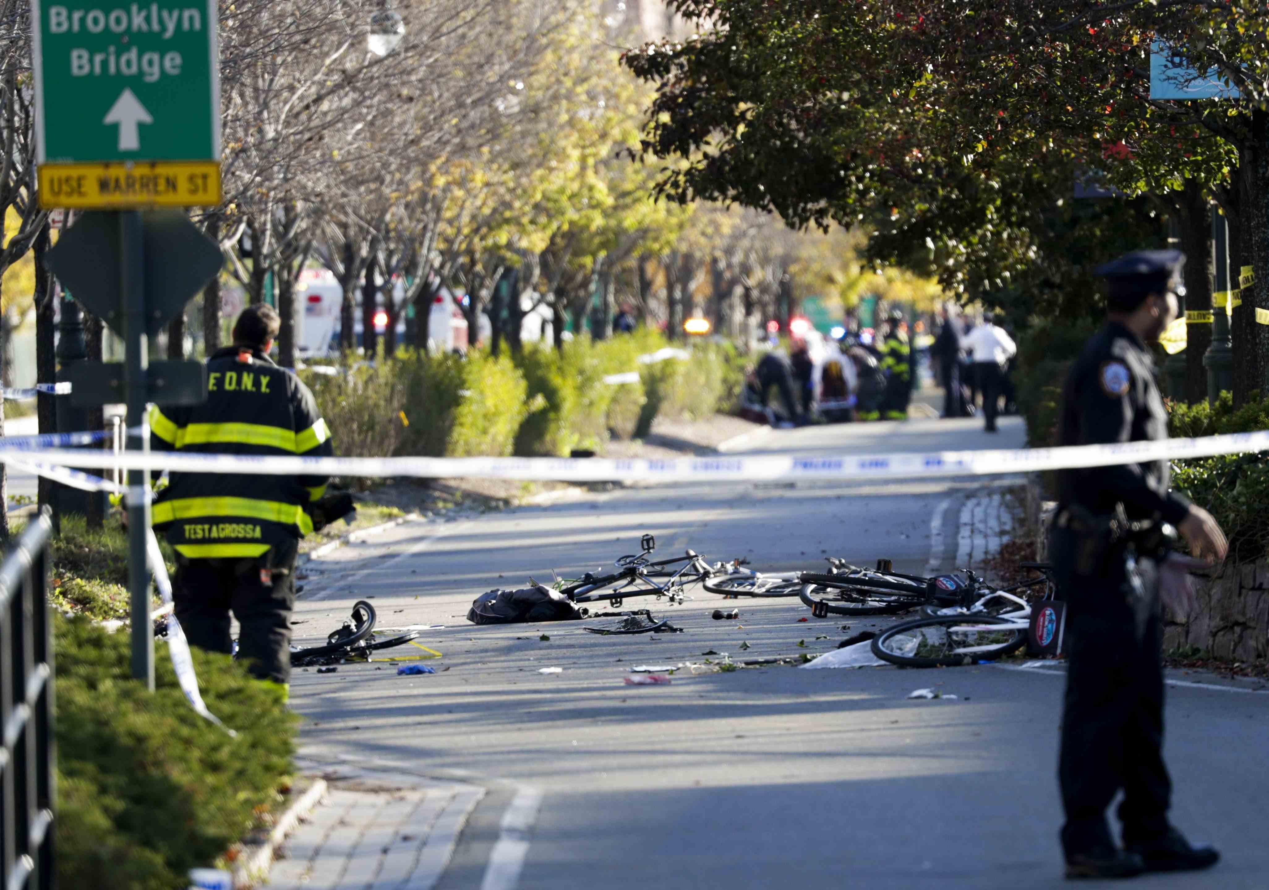 atentado ciclista