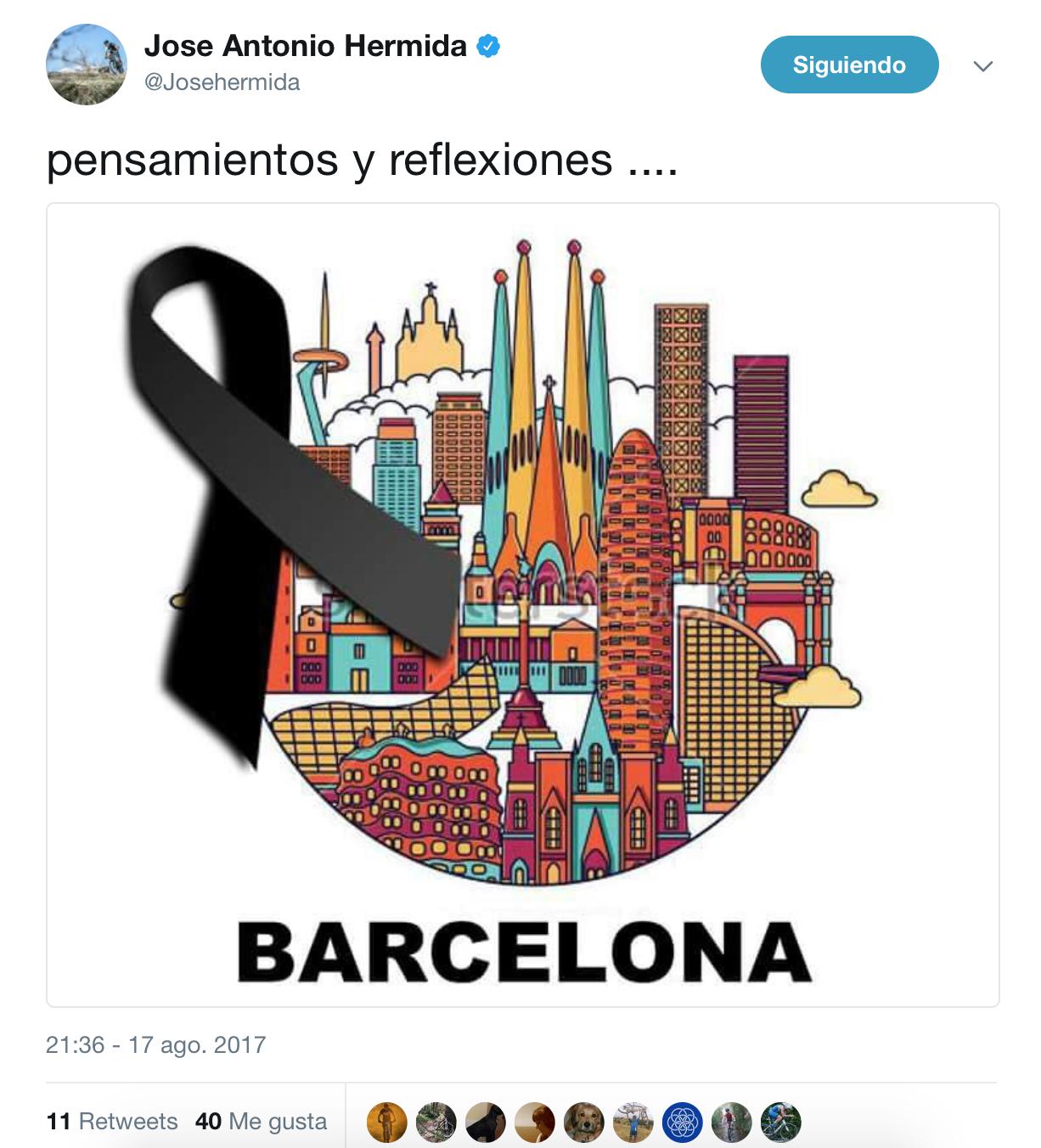 Atentado Barcelona ciclismo