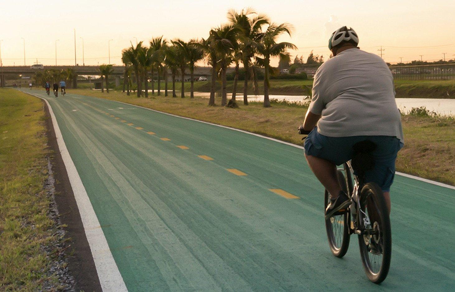ciclista sobrepeso