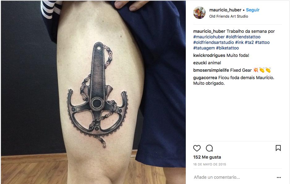 tatuaje de ciclismo